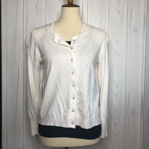 (Philosophy) White Button Up Cardigan